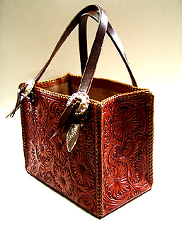 Tooled Leather Hand Bags